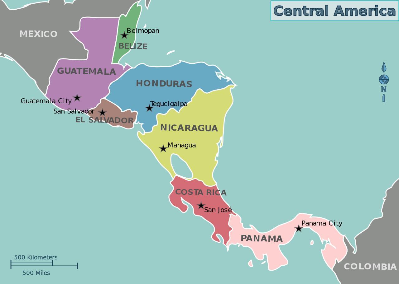 Honduras mapa de américa central - Mapa de Honduras mapa de américa ...